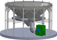 Подача воздуха в конический силос